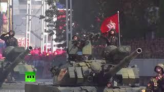 В Пхеньяне состоялся военный парад в честь 70-летия основания КНДР