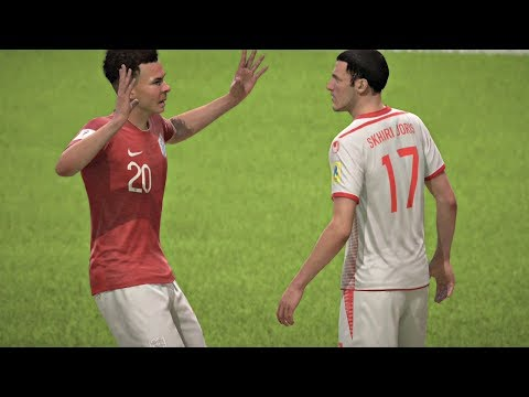 World Cup 2018 - Tunisia vs England - Group G Full Match Sim (FIFA 18)