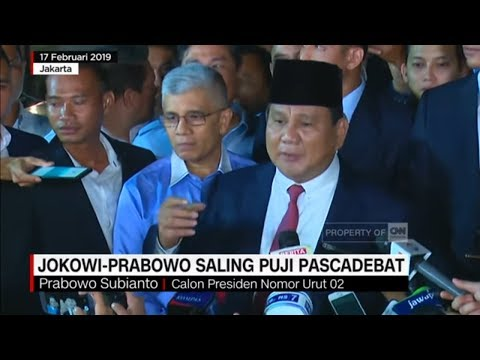 Jokowi - Prabowo Saling Puji Pascadebat Kedua