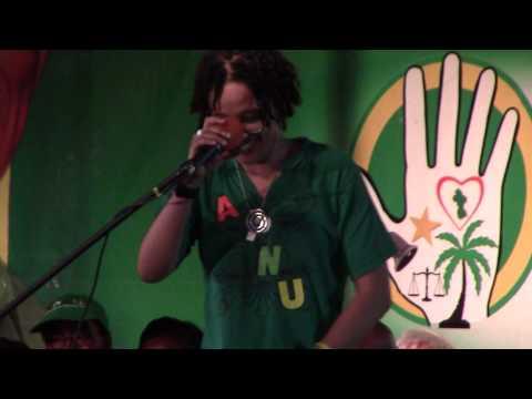 Lisa Punch & Ulele Burnham at the APNU AFC Rally Guyana May 9th, 2015