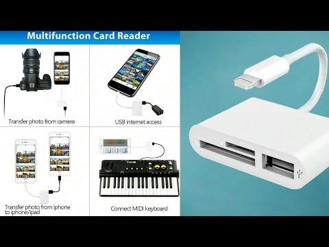 OTG USB Camera Adapter For Lightning To Micro SD TF Card Reader Kit Apple Ios 13 Converter