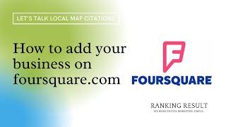 How to add your business to foursquare com? #1 screenshot 1