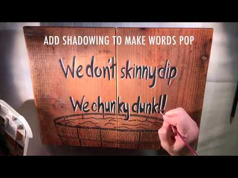 HOW TO Make a Wood Sign From Scratch (DIY FENCE BOARD SCRAP SIGN)