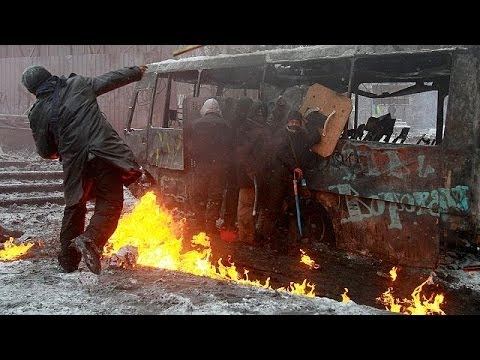 Ukraine protests: three people killed in Kyiv clashes - no comment