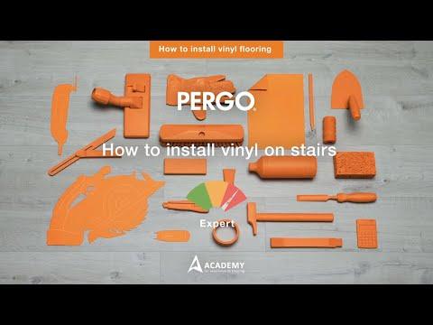 Installing Pergo vinyl flooring - How to install vinyl on stairs?