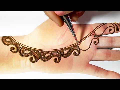 New Mehndi Design Trick - Easy Mehndi design for Hands - होली के त्यौहार में ये मेहँदी डिज़ाइन लगाएं