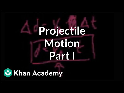 Projectile motion (part 1) | One-dimensional motion | Physics | Khan Academy