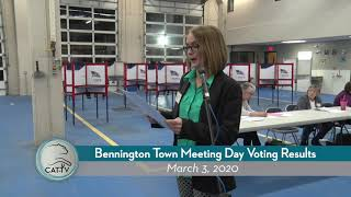 Bennington Town Meeting Day Voting Results // 3-3-20