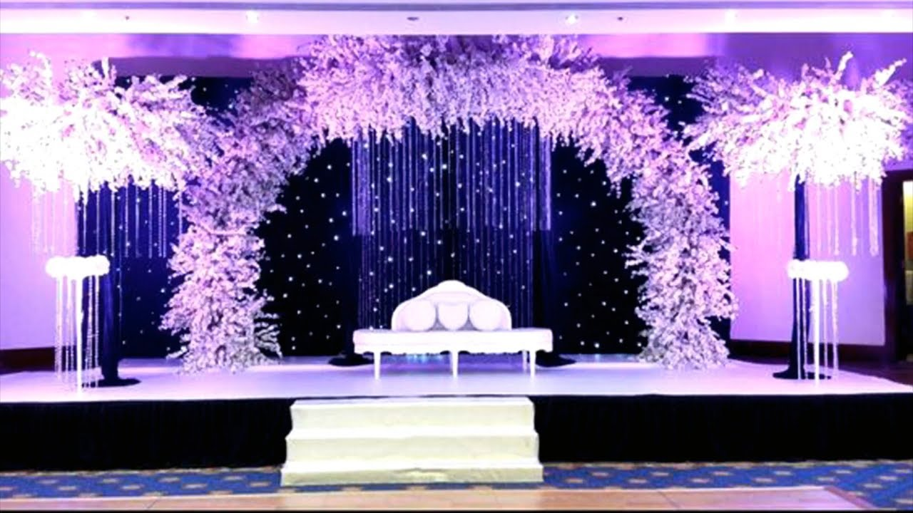 Simple Backdrop Decoration Idea Stage Decoration Stage Design Images Youtube