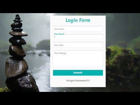 Simple Contact form with Floating Label animation   Login Form with floating Placeholder Text
