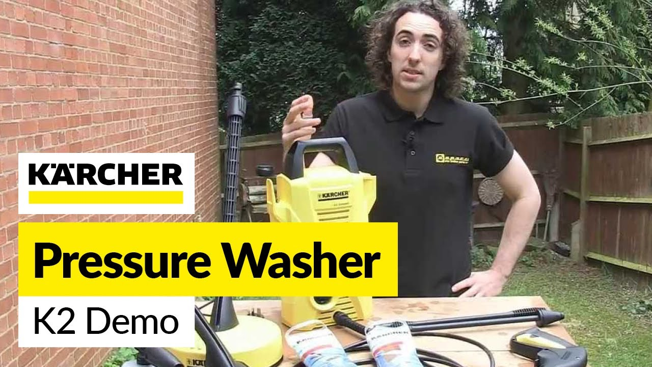 karcher k2 pressure washer demo youtube. Black Bedroom Furniture Sets. Home Design Ideas