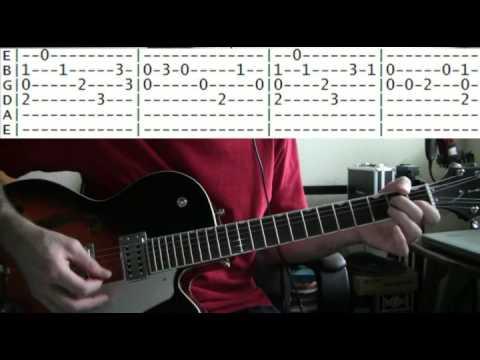 guitar lesson Addams family theme tab