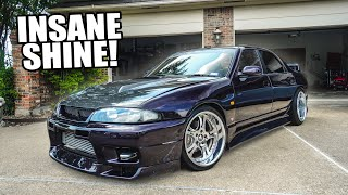 Widebody R33 gets an INSANE full detail & paint correction!