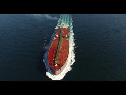 EURONAV MT ANTIGONE Sea Trials Aerial Video 4k