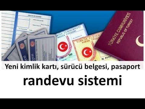 Yeni kimlik kartı, sürücü belgesi, pasaport randevu sistemi
