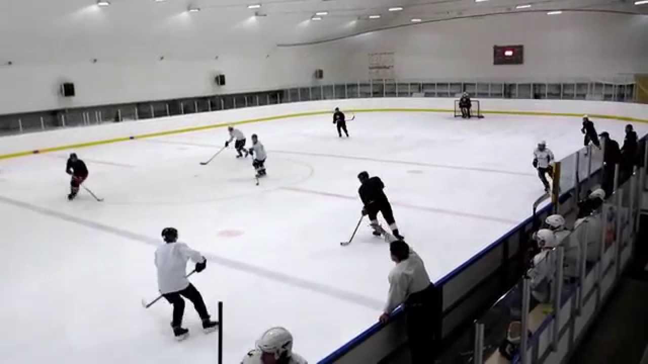 Любительский хоккей - отличный выход и гол