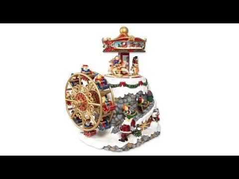 Ornament - Wind Up Musical Carousel & Ferris Wheel