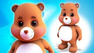 ursinho pelúcia Virar Poraí rima | Teddy Bear Teddy Bear Turn Around | Nursery Rhymes And Songs