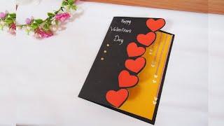 ทำการ์ดวาเลนไทน์ภาษาอังกฤษ | Beautiful Handmade Valentine Day Card Idea
