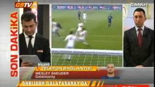 Sneijder Canlı Yayın GSTV'ye Bağlandı