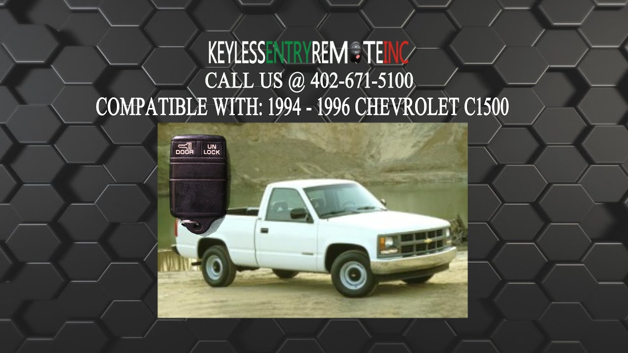 How To Replace Chevrolet C1500 Key Fob Battery 1994 1995 1996 Youtube Chevy Silverado