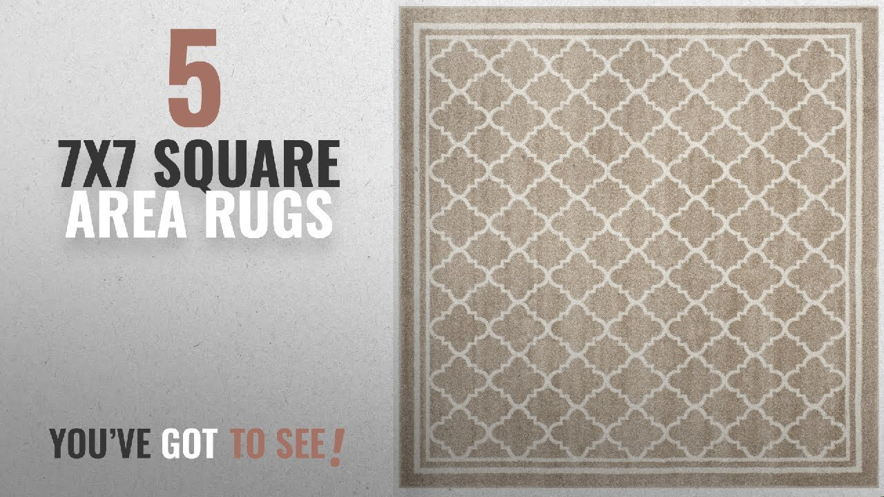 Top 10 7x7 Square Area Rugs 2018 Safavieh Amherst Collection Amt422s Wheat And Beige Indoor