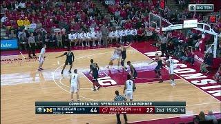 Big Ten Basketball Highlights: Michigan at Wisconsin
