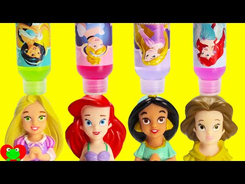 Disney Princess Magic Bath Time Soap LEARN Colors with Happy Places and Surprises