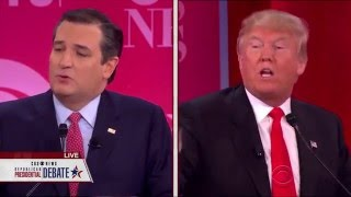 Cruz and Trump Argue Over Conservative Credentials, Integrity