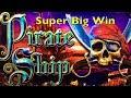 PIRATE SHIP Slot Machine - Super Big Win - Live Play - 2x Bonus - WMS Pokies Win Merkur Novoline