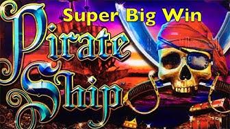 PIRATE SHIP Slot Machine - Super Big Win - Live Play - 2x Bonus - WMS Pokies Win 해적선 슬롯 머신