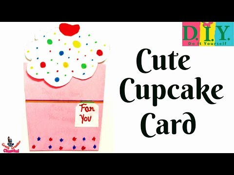 how-to-make-easy-greeting-card-for-birthday-|-diy-greeting-card-for-birthday-|-diy-cupcake-card
