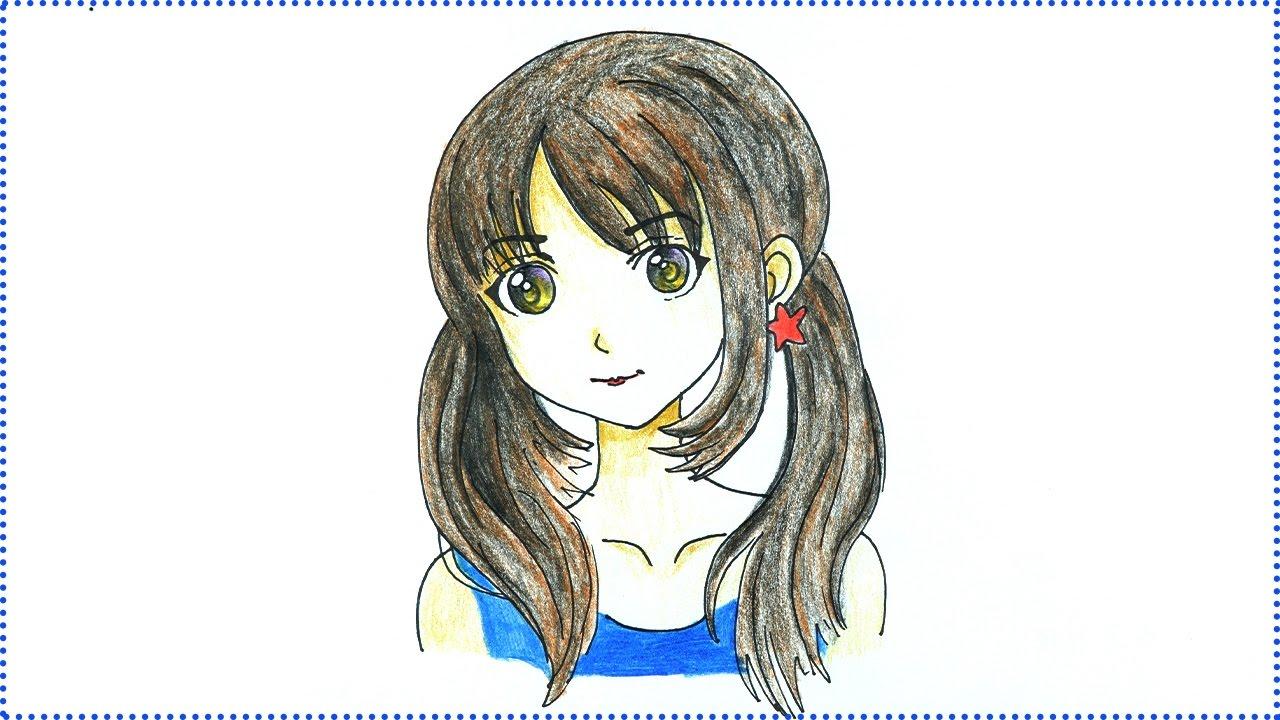 Anime drawing how to draw anime girl easy manga drawing tutorial