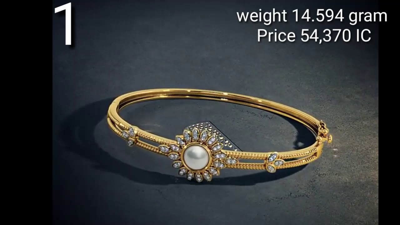 Gold Bangles |Bracelet Designs with Weight and Price - YouTube
