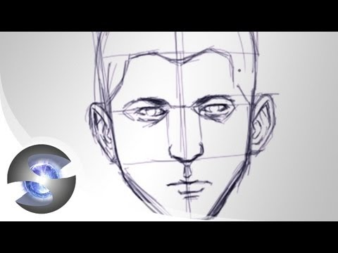 sketching-a-face--basic-proportions