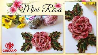 🌸 Mini Rosa em Crochê para Aplicação