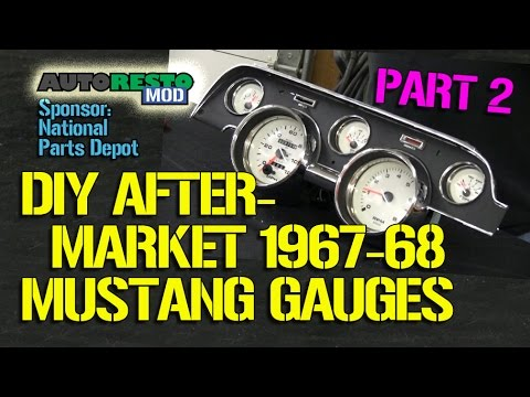 How To DIY Aftermarket Gauge Cluster For 1967-1968 Mustang Part 2 Episode 189  Autorestomod
