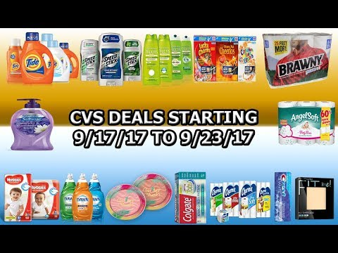 CVS DEALS STARTING 9/17/17: AD PREVIEW (FREE TOOTHPASTE, CHEAP PAPER PRODUCTS, AND MUCH MORE)