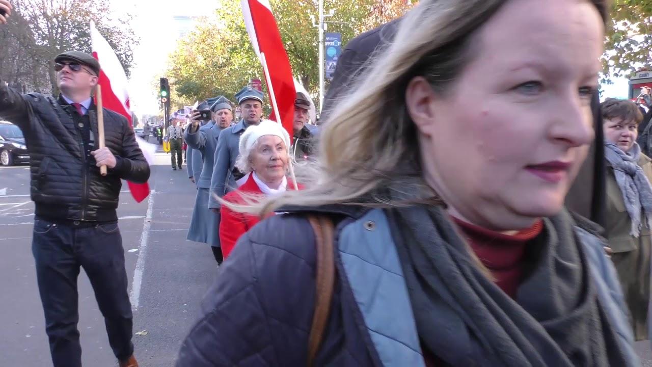 Parada gen Józefa Hallera - Londyn, Ealing - 17.11.2018