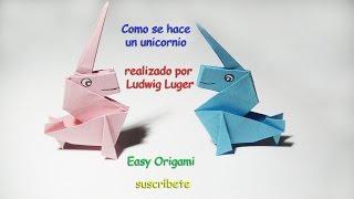 Como hacer un unicornio por easy origami