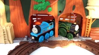 Thomas And Friends Wooden Trains Emily In Play Set On A Shaky Bridge N Old Wheezy