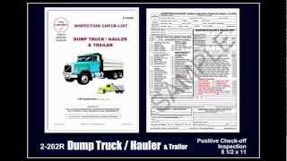 Dump Truck / Hauler Inspection Checklist - The
