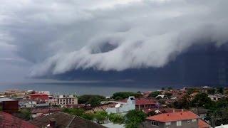 Bondi Beach 'cloud tsunami' roll into Sydney