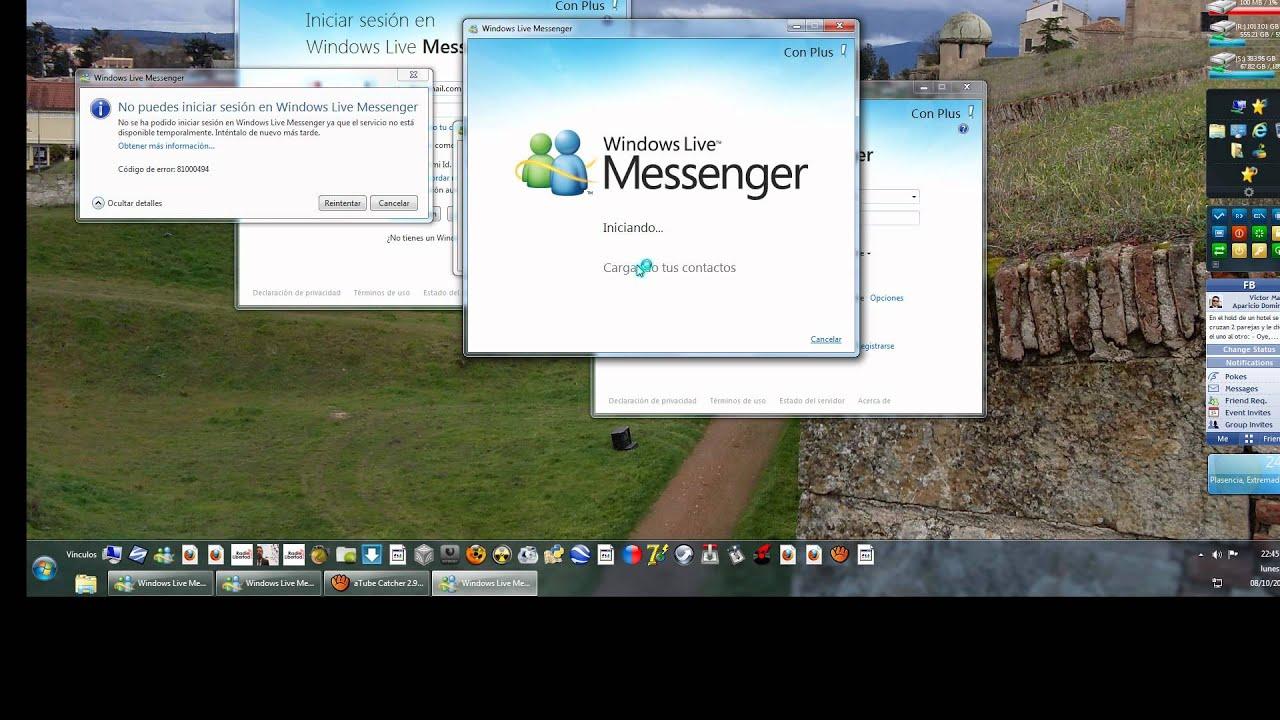 solución a los problemas para iniciar sesión en windows live
