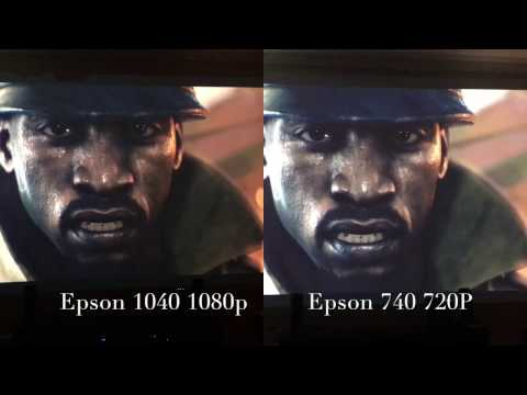 Epson 1040 versus Epson 740 Projector Review, Demo Playback, Game Play