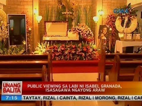 UB: Public viewing sa labi ni Isabel Granada, isasagawa ngayong araw