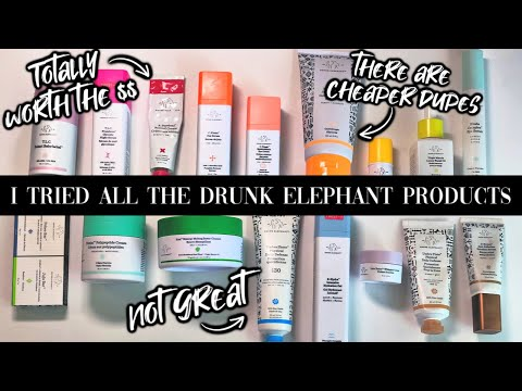 I TRIED ALL THE PRODUCTS DRUNK ELEPHANT MAKES // Best + Worst + DUPES thumbnail