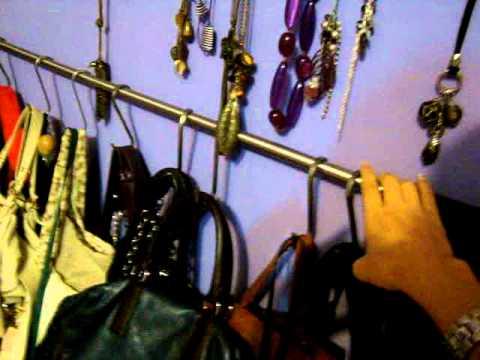 Como organizo mis bolsos primera idea youtube - Organizar bolsos ikea ...