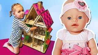 Кукольный домик. Собираем мебель из дерева. Игры для девочек и мальчиков