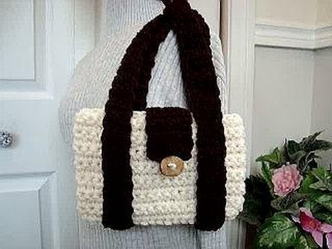 Crochet Bag Youtube : CROCHET MIMI BAG, how to diy, shoulder bag, laptop bag, school bag ...